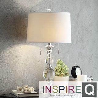 Inspire Q Kohala Crystal Mercury Base 2-Light Accent Table Lamp