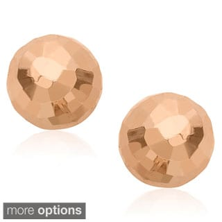 Gioelli 14k Gold 8-mm Hammered Ball Earrings