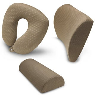 SwissLux 3-piece Memory Foam Travel Pillow Set
