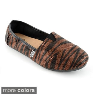 Corkys Women's Sequin Slip On Sues