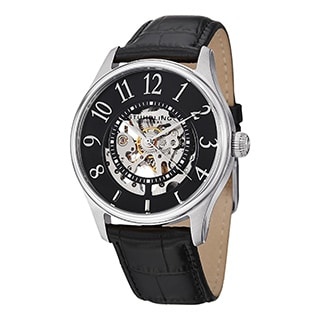 Stuhrling Original Men's Solaris Automatic Black Strap Watch