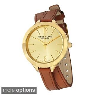 Stuhrling Original Women's Deauville Sport Swiss Quartz Leather Strap Watch
