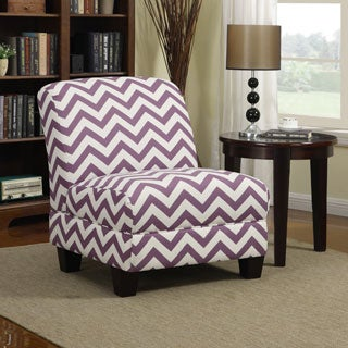 Portfolio Alton Purple Chevron Armless Chair