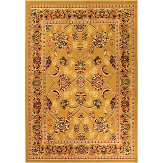 Paterson Oriental Gold/ Black Area Rug (5' x 7')