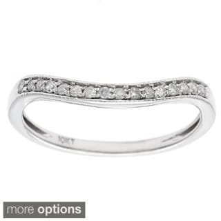 10k Gold 1/6ct Curved Pave Diamond Band (G-H, I1-I2)