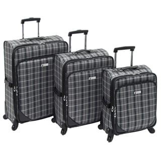 London Fog Devonshire 360 Collection 3-Piece Fashion Spinner Luggage Set