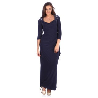 Alex Evenings Women's Smoke Long Evening Dress