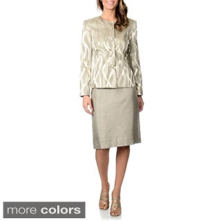 Danillo Women's Metallic Skirt Suit