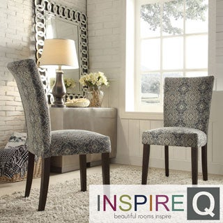 Inspire Q Parson Medallion Floral Fabric Side Chairs (Set of 2)