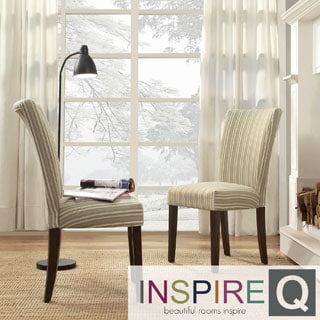 Inspire Q Parson Colby Striped Fabric Side Chairs (Set of 2)