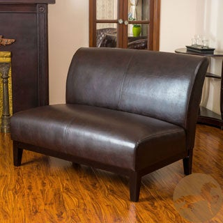 Christopher Knight Home Darcy Brown Bonded Leather Loveseat