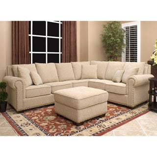 Abbyson Living Santa Barbara Sectional and Ottoman Set