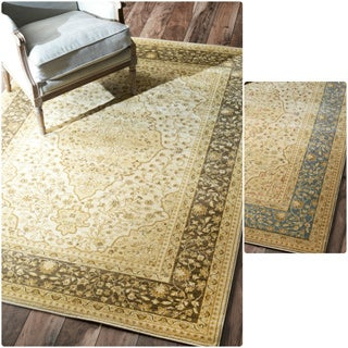 nuLOOM Traditional Ziegler Medallion Rug (5'3 x 7'7)