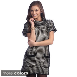 Women's Grey Houndstooth Causal Sweater