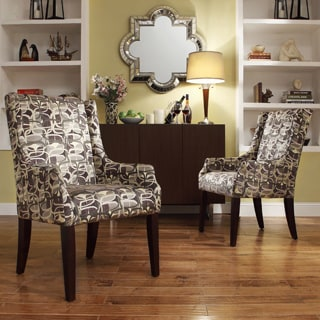 Kiefer Fun Geometric Print Sloped Arm Hostess Chair