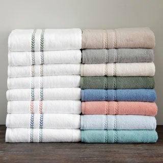 LENOX Pearl Essence Pima Cotton Blend Bath Towel (Set of 3)