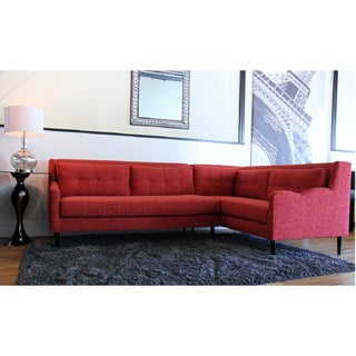 Inncdesign Red Genova Sectional Sofa