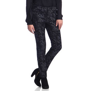 Live A Little Women's Shadow Print Skinny Jeans
