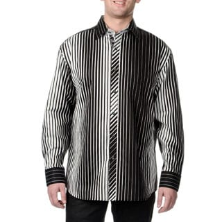 Steve Harvey Men's Bands Button Down Shirt