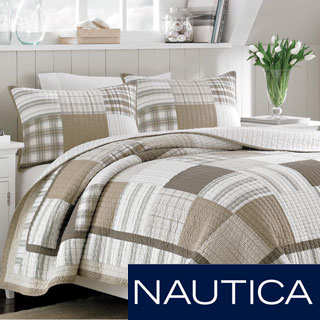 Nautica Oakhurst Yarndye Cotton Reversible Quilt and Sham Separates