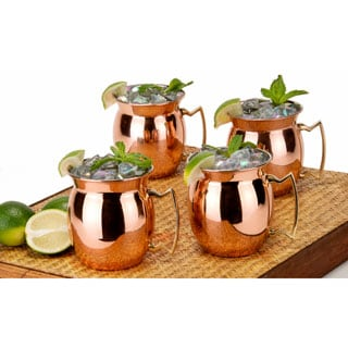 Moscow Mule 16-ounce Solid Copper Mugs (Set of 4)