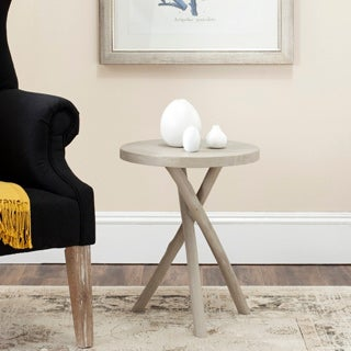 Safavieh Quinn Pearl Taupe Tripod Round End Table