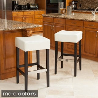 Tate Backless Leather Bar Stool (Set of 2)