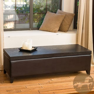 Christopher Knight Home Thompson Slider Espresso Wood Top Storage Ottoman