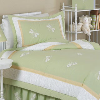 Sweet Jojo Designs 4-piece Green Dragonfly Dreams Comforter Set