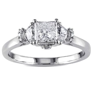 Miadora Signature Collection 14k White Gold 1ct TDW Princess Cut Diamond Ring (G-H, I1-I2)