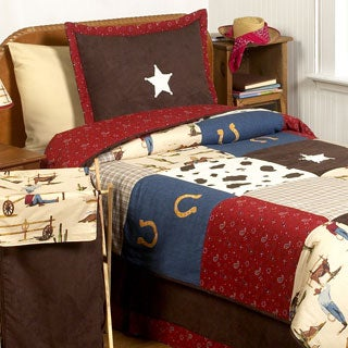 Sweet JoJo Designs Wild West Cowboy 3-piece Boys Full/Queen Children's Comforter Set