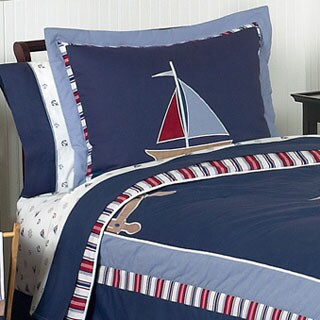 Sweet Jojo Designs Nautical Sailboat 3-piece Full/Queen Comorter Set