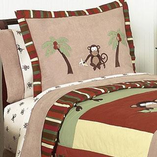 Sweet Jojo Designs Monkey 3-piece Full/Queen Comforter Set