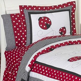Sweet Jojo Designs Polka Dot Ladybug 3-piece Full/Queen Comforter Set