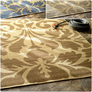 nuLOOM Transitional Indoor/ Outdoor Damask Rug (7'10 x 10'10)
