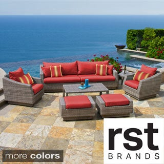 RST Brands Cannes 8-piece Sofa Club Chair and Ottomans Set