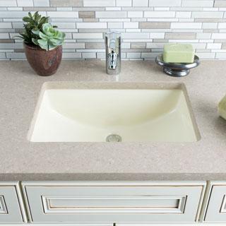 Hahn Ceramic Bisque Medium Rectangular Bathroom Bowl (UM)
