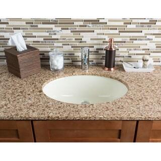 Hahn Ceramic Bathroom Bisque Large Oval Bowl (UM)