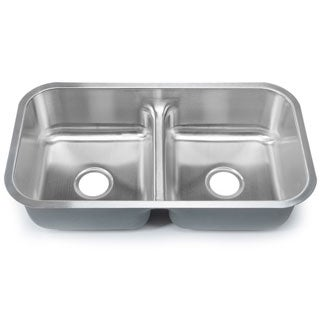 Designer Collection Stainless Steel Low-divide Equal Double-bowl Kitchen Sink