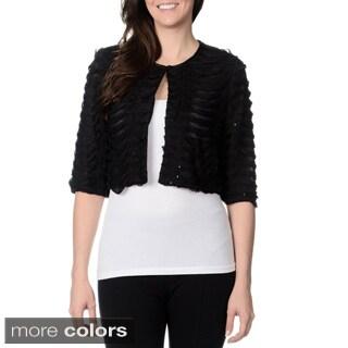 R & M Richards Women's Dresswear Pleated Shrug