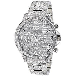 Luxurman Fully Iced Out 1 1/4ct TDW White Diamond Watch
