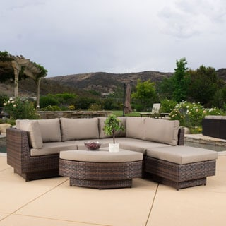 Christopher Knight Home Branson Outdoor 6-piece Multi-brown Wicker Sofa Set
