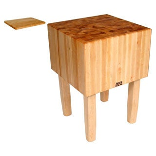 John Boos AA04 Butcher Block 30x30x34 Table and Cutting Board