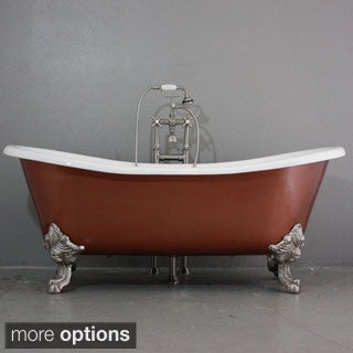 'The Welbeck' from Penhaglion Cast Iron 73-inch Slight Double Slipper Bateau Bathtub