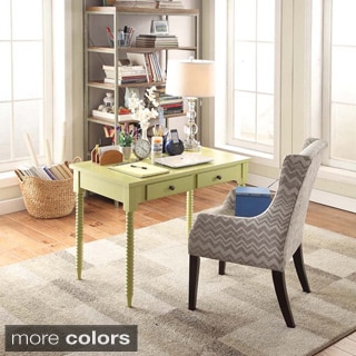 INSPIRE Q Clare 2-drawer Weeping Willow Green Helix Legs Office Desk