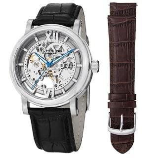Stuhrling Original Men's Winchester XT Watch Set Automatic Interchangeable Strap Watch