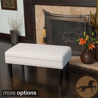 Christopher Knight Home Domingo Fabric Bench Ottoman