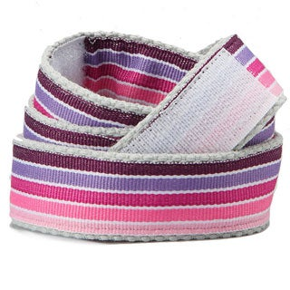 Superflykids 'Pinkletoes' Purple Printed Hook-and-loop Belt