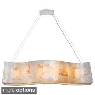 Varaluz Big Reclaimed Shell 6-light Linear Pendant