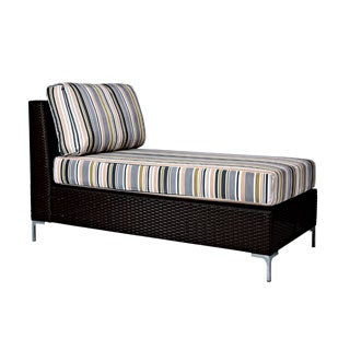 Portfolio Dorchester Stripe Indoor/Outdoor Resin Wicker Armless Chaise
